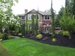 Simple Landscape Design by Architectures Simple Landscape Design With Flower Bed Of Pink