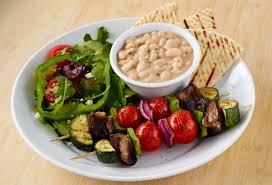 Mediterranean Vegan Kitchen Veggie Kabob Plate From Zoes Kitchen Live Zoes Pinterest