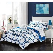 What Size Is King Size Duvet Cover Blue Geometric King Size Duvet Cover Set Geometrical Ikat Jacquard