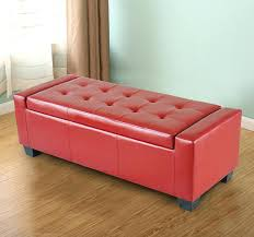 Storage Ottoman Bench Seat Boots Western Ottoman Western Ottomans Handsome Tufted Leather