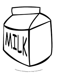 Milk Carton Coloring Page Many Interesting Cliparts Coloring Page Of