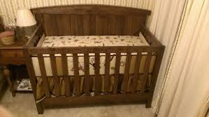 Espresso Nursery Furniture Sets by Solid Oak Crib And Changing Table Creative Ideas Of Baby Cribs