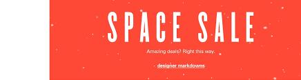 designer sale space shop by nordstrom