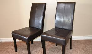 Leather Parson Dining Chairs Parsons Dining Chairs Upholstered Fabulous Black And White Dining