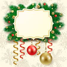 cute christmas cards with frame vector set 03 welovesolo