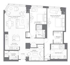 grand floor plans two bed floor plans and rentals at millennium tower boston