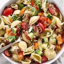 pasta salad recipes cold greek chicken pasta salad budget bytes