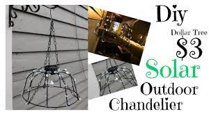Outdoor Chandelier Diy Diy Solar Outdoor Chandelier 3 Dollar Tree Youtube