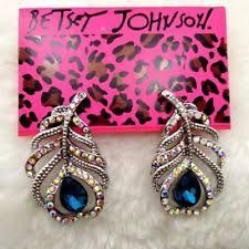 feather earrings s betsey johnson feather fashion earrings ebay