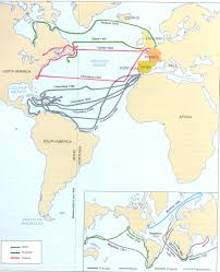 Columbus Route Map by Mr Jobe U0027s Ap Us History Chapter 1 Exploration Discovery And
