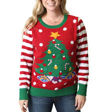 christmas tree sweater with lights women s christmas tree light up ugly christmas sweater ugly