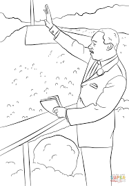 martin luther king i have a dream coloring page free printable
