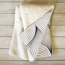 shop deny designs seamless lines white cream 60 in l x 50 in w