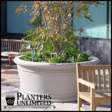 contemporary and modern style large commercial fiberglass planters