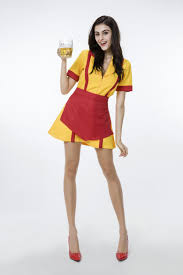 mermaid halloween costume for adults 2017 new broke girls women dress yellow waitress