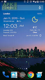 clock and weather widgets for android weather clock widget android for android free at apk here
