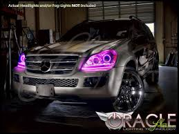 pink mercedes oracle 07 12 mercedes benz gl ccfl halo rings headlights bulbs