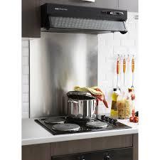 ventilateur de cuisine crédence de cuisine et fond de hotte inox verre au meilleur prix