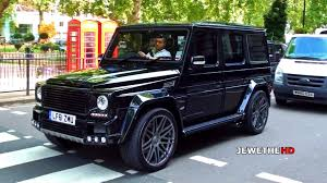 mercedes jeep black mercedes benz brabus g class k8 in london beast exhaust sounds