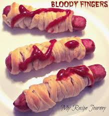 my recipe journey bloody fingers halloween food
