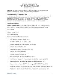 Ndt Resume Sample by James Ajiboye Resume 2016