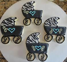pink sugar cupcakes zebra print baby shower cookies