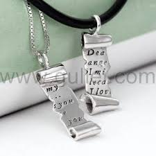 couples necklace images Customizable 925 sterling silver engraved letter couple necklace jpg
