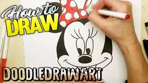 draw minnie mouse step step easy