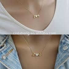 tiny necklace pendants images Necklaces tiny alphabet letter love couple pendants designs for jpg