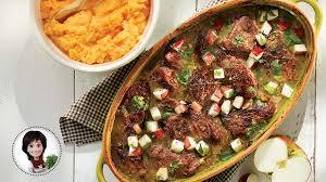 cuisiner la palette de porc rôti de palette braisé aux pommes de josée di stasio recettes iga