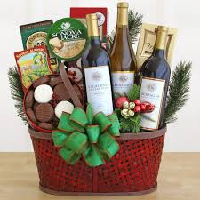 christmas wine gift baskets christmas wine gift basket all about gifts baskets