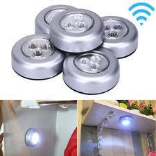battery operated stick on lights 5pcs led battery powered wireless night light stick on tap touch
