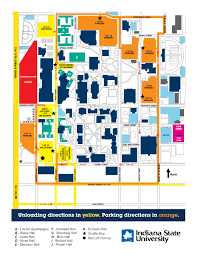 Ohio University Parking Map by Fall Move In Indiana State University
