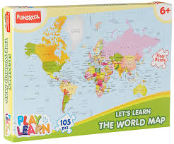 United States Map Puzzle Games by Buy Funskool World Map Puzzles Online At Low Prices In India