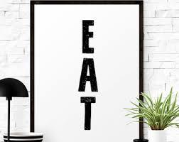 modern kitchen art etsy