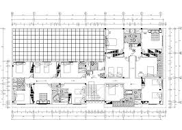 lodging house accommodation hotel 2d dwg plan for autocad