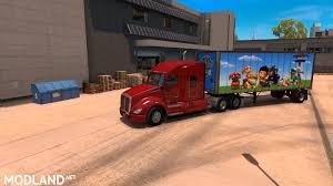 minecraft truck paw patrol trailer skin mod for american truck simulator ats