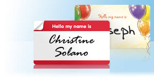 Name Tag On Desk Custom Name Tags U0026 Name Tag Stickers Vistaprint