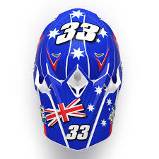 Helmet Kit Aussie Pilot Rival Ink Design Co Custom Motocross