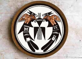 navajo home decor navajo art contemporary wall plate buy home décor at lowest