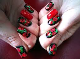 50 creative rose nails designs nail design ideaz