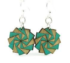 green tree earrings green tree jewelry twilight zone wood earrings earrings and company