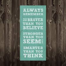 always remember winnie the pooh quote 9x19 typography home decor