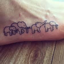 collection of 25 elephant family design near wrist