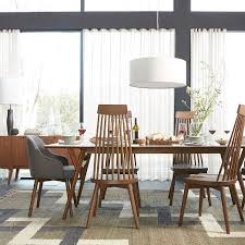 Mid Century Dining Table And Chairs Mid Century Expandable Dining Table West Elm