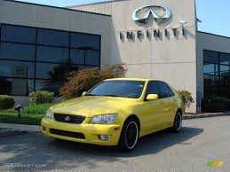 lexus yellow 2002 solar yellow lexus is 300 34994660 gtcarlot com car