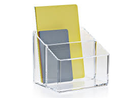 Clear Desk Organizer Acrylic Desk Tray Organizer Clear Brochure Holder By Nomess Copenhagen