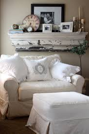 Oversized Chairs With Ottomans Cozy Reading Nook With Oversized Chair And Pillows Large White