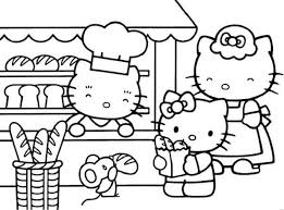 Hello Kitty Shopping Bread Coloring Pages Cartoon Coloring Pages Coloring Pages Bread