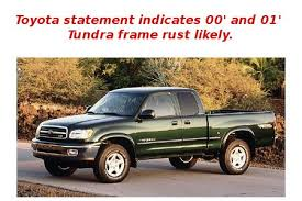 2001 toyota sequoia frame recall toyota seems to admit generation tundra s suffer from frame